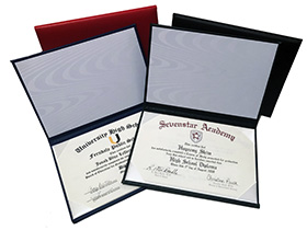 Padded Diploma Covers